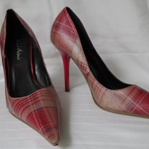 Michael Antonio Plaid Stiletto Pump NWOB- Sz 5.5